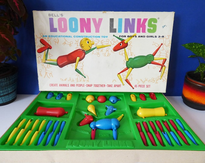 Loony Links construction toy vintage