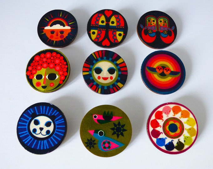 Wooden Brooches by Jay Kaye unique quirky gift