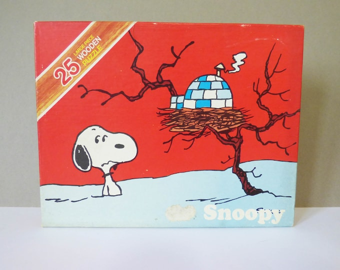 Vintage Snoopy Wooden Jigsaw Puzzle