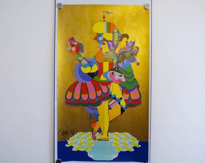 Bjorn Wiinblad Original Poster, Jubilee Cruise poster  Danish Art  Bjørn Wiinblad