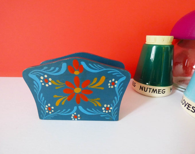 Napkin holder / letter rack Vintage Scandinavian Swedish