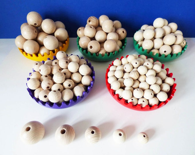 Wooden Beads unfinished German Made top quality for crafting