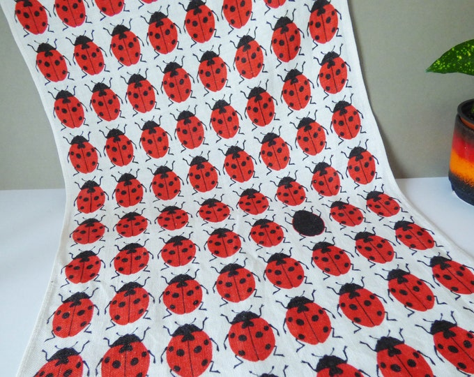 Vintage ladybird tea towel by Ulster of Ireland