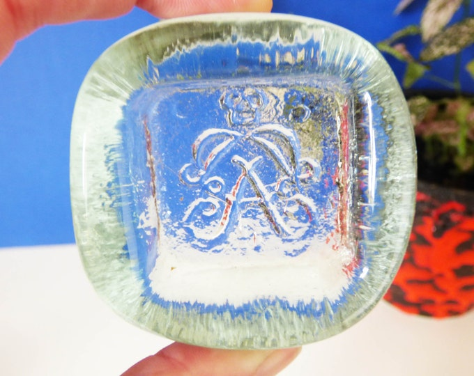 Vintage Glass salt dish Norweigen