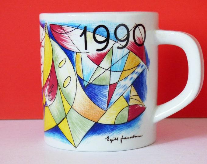 Royal Copenhagen mug 1990 Egill Jacobsen Danish and vintage