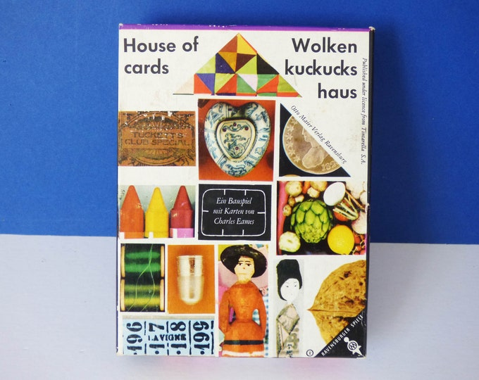 Eames house of cards picture deck by Charles Eames