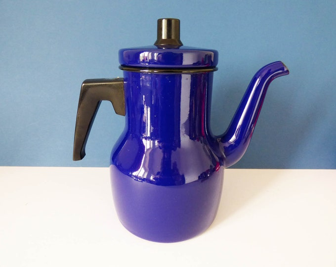 Vintage Kockums enamel coffee pot Sweden