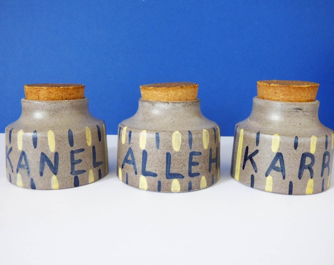 Melle Denmark ceramic Spice jars