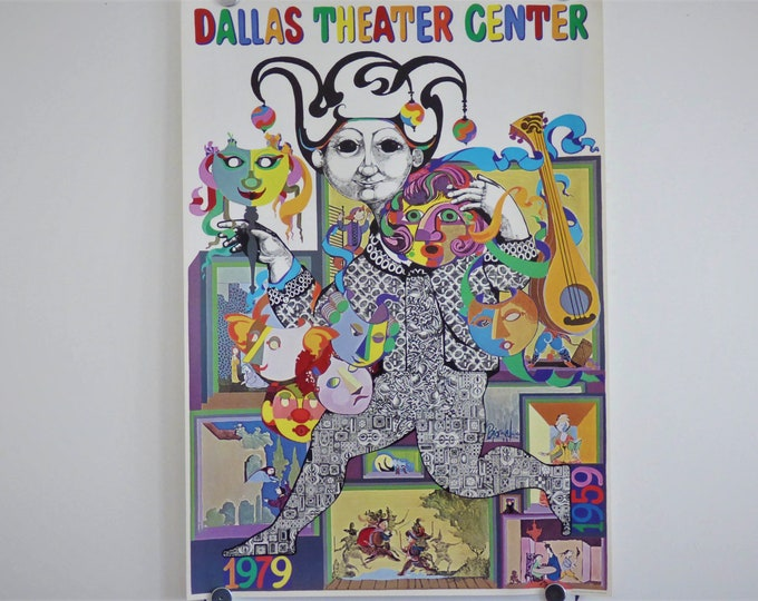 Bjorn Wiinblad poster Dallas Theater Centre 1979