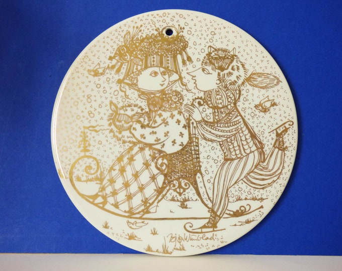 Bjorn Wiinblad wall plate / plaque Nymolle Denmark January