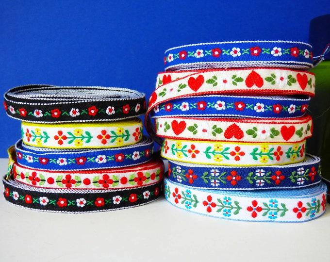 Ribbon Jacquard Woven Scandinavian Style 2 meters lengths.