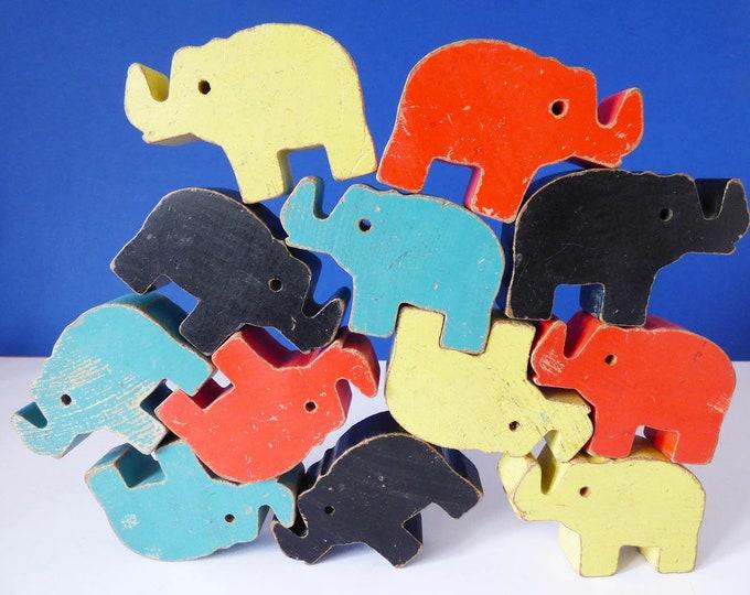 Jumbling Jumbo stacking elephant toy Abbatt toys England 1950's