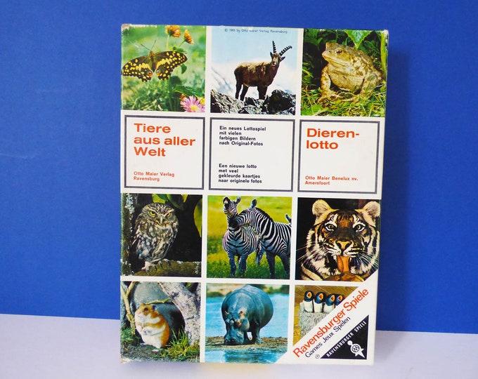 Animal Lotto Game Ravensburger  Vintage