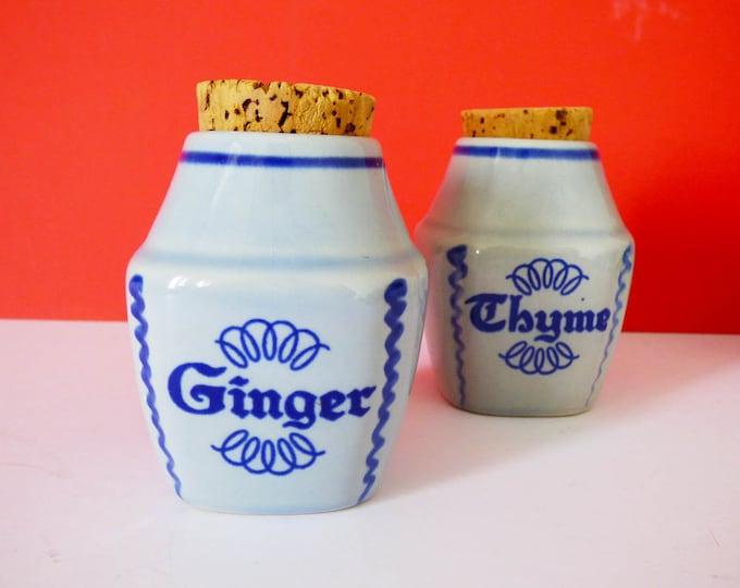 Spice and Herb jars Soholm  of Denmark Vintage
