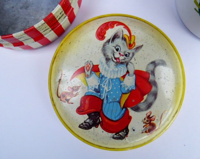 Vintage Cat themed toffee tin