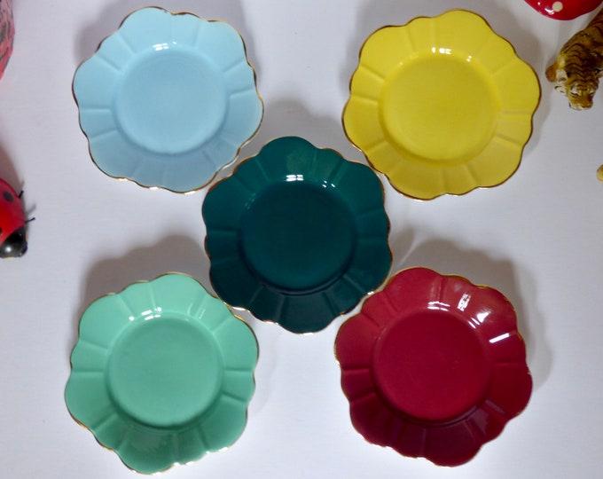 Vintage Harlequin tea plates