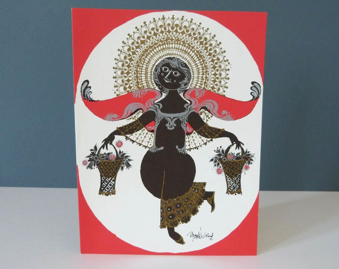 Bjorn Wiinblad Single Angel's  Large Greetings card