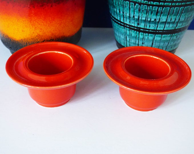 Ceramic candle holders Vintage from Holland