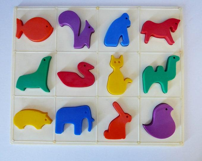 Vintage plastic animal puzzle