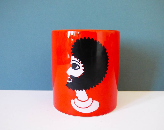 Vintage Waechtersbach ceramic beaker / pen pot