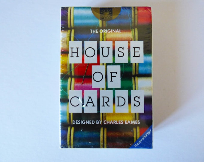 Eames house of cards picture deck by Charles Eames 1986