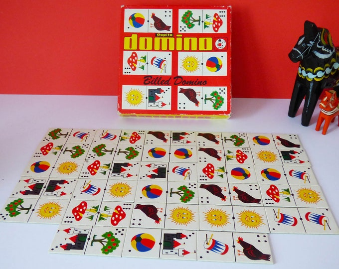 Vintage Danish picture dominos