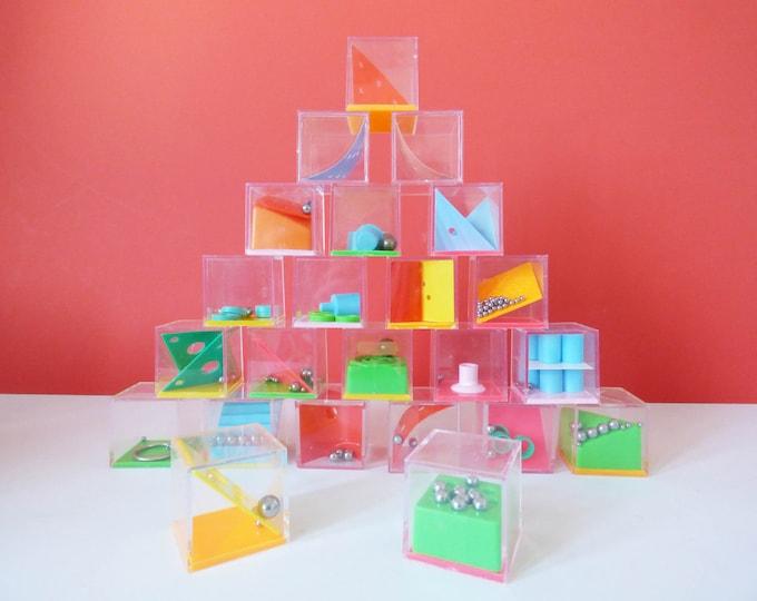 Vintage plastic cube puzzles