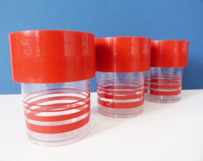 Eric Kold Danish plastic screw lid storage jars