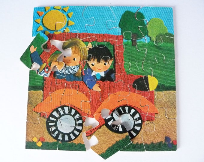 Wooden Jigsaw Puzzle Vintage Ravensburger
