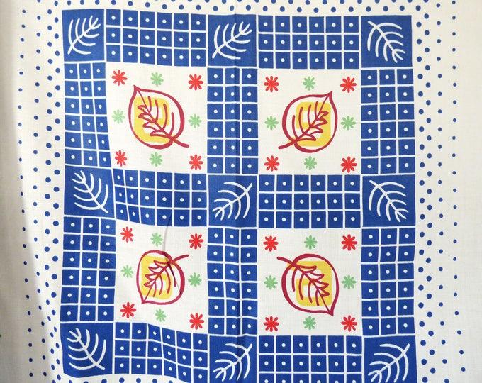 Tablecloth Vintage Mid century modern fabric