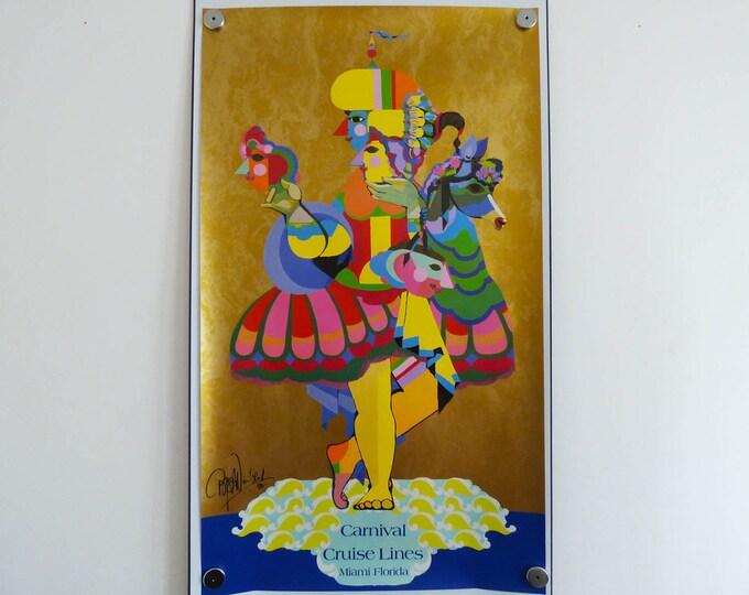 Bjorn Wiinblad Original Poster, Cruise poster Danish Art  Bjørn Wiinblad