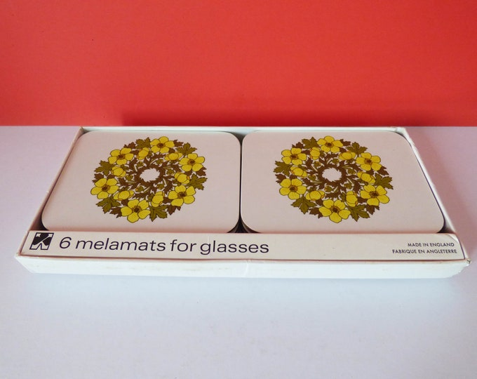 1970's original melamine coasters