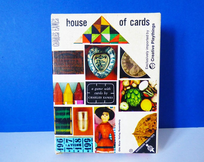 Eames house of cards picture deck by Charles Eames 1958