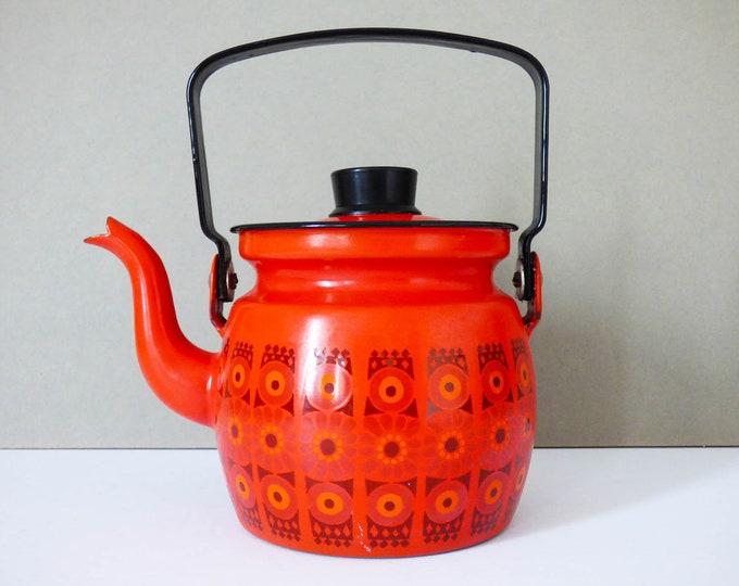 Vintage Finel of Finland Enamel teapot / kettle