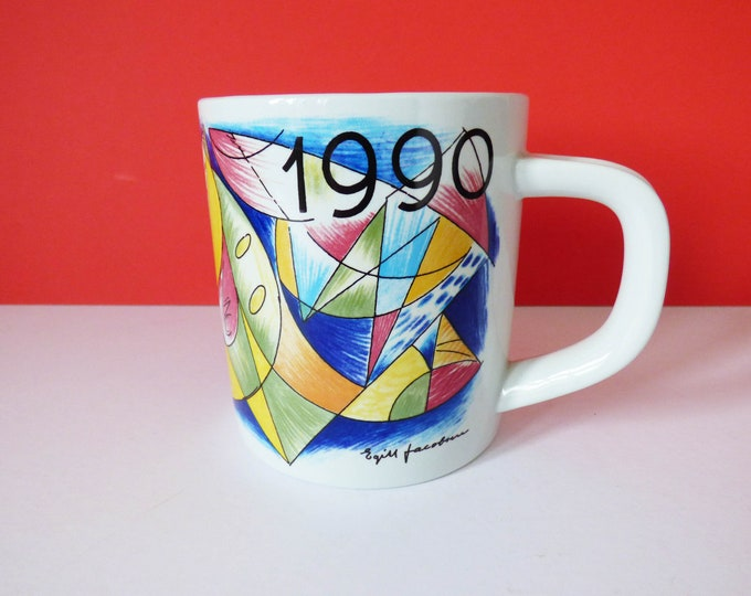 1990 Royal Copenhagen Annual mug Egill Jacobsen