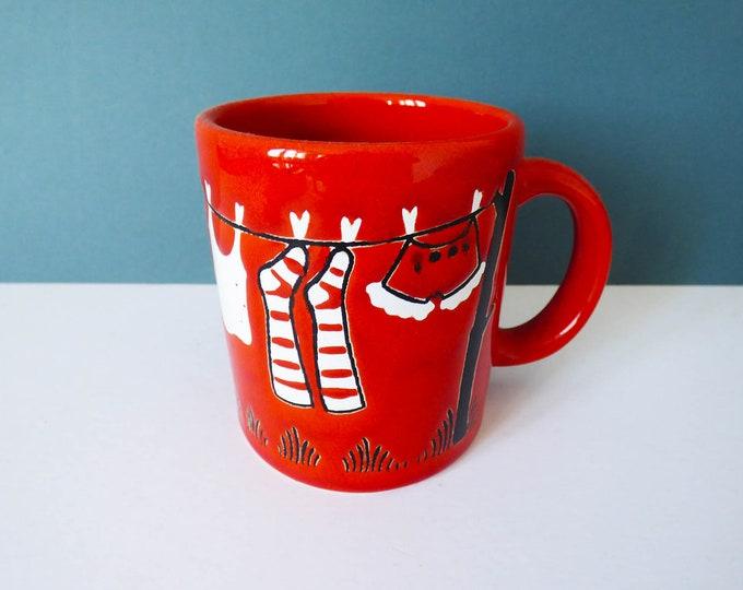 Waechtersbach Mug washing line image Vintage