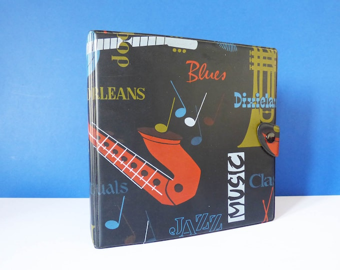 Vintage retro mid century 45s Record folder / case