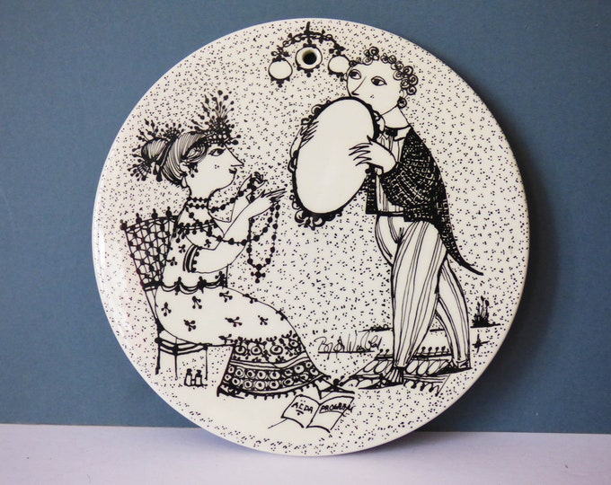 Bjorn Wiinblad wall plate / plaque Nymolle Denmark September