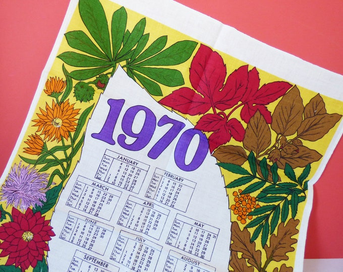 1970 Calendar tea towel