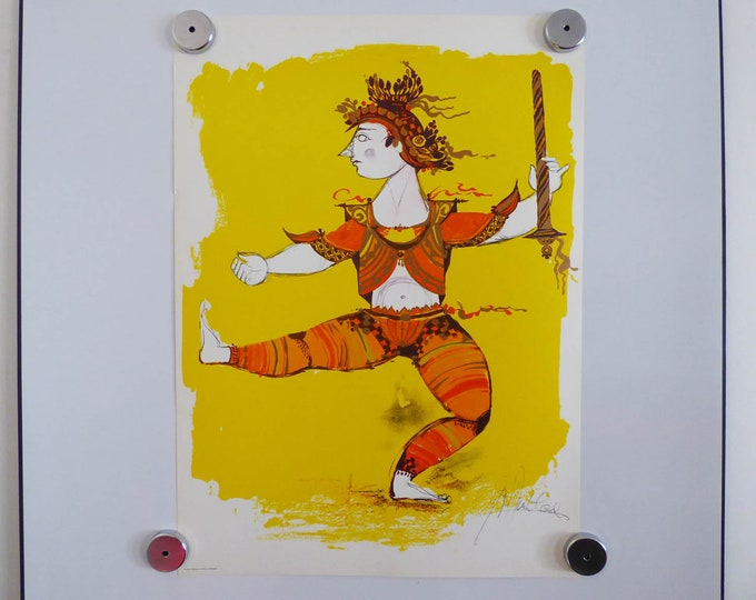 Bjorn Wiinblad print poster Indian Warrior (2)
