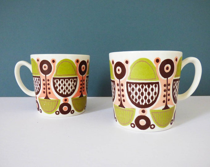Figgjo Flint 2 x coffee cups Granada design