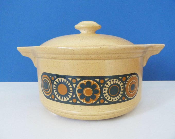 Staffordshire potteries Kilm craft Bacchus casserole pot vintage