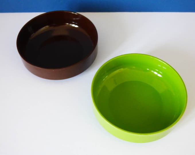 1970s vintage Danish Rosti mepal bowls / dishes