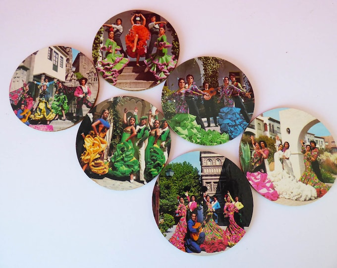 Coasters Vintage Kitsch cork backed