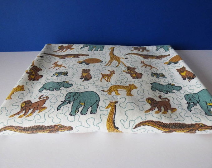 Childrens single bed sheet Bombay Dye Company Vintage fabric material 70s