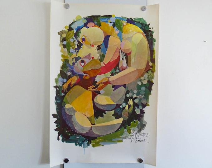 Bjorn Wiinblad Poster MIdnight Sun Original poster