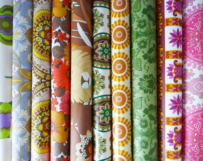 Wallpaper large sample pack  52cm x 28 cm  Vintage Retro 10 sheets