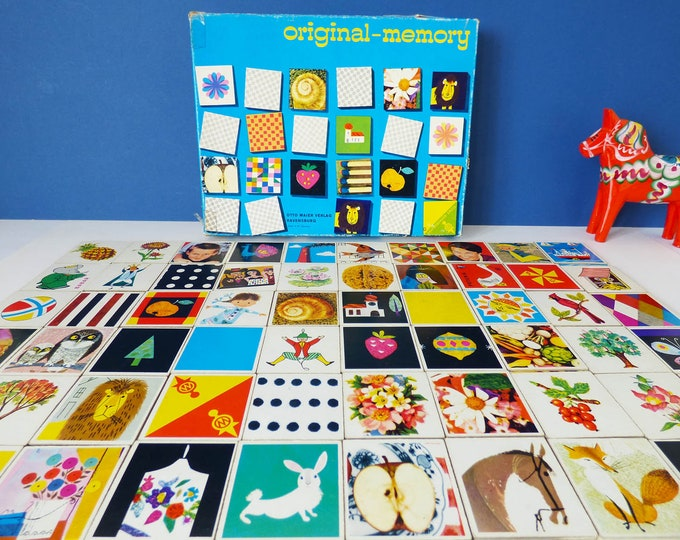 Memory game complete Ravensburger Otto Maier 1960s