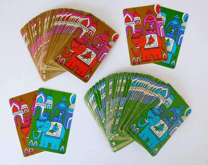 Vintage playing cards plastic coated