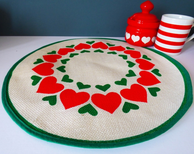 West German heart centre placemat Scandinavian style